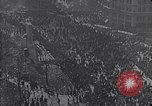 Image of crowds celebrate armistice ending World War 1 New York City USA, 1918, second 11 stock footage video 65675039606