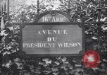 Image of road sign Paris France, 1919, second 3 stock footage video 65675039621