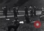 Image of American soldiers playing baseball Heidelberg Germany, 1945, second 7 stock footage video 65675039710
