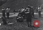 Image of American soldiers playing baseball Heidelberg Germany, 1945, second 10 stock footage video 65675039710