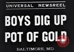 Image of boys Baltimore Maryland USA, 1935, second 3 stock footage video 65675039748