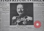 Image of Kaiser Wilhelm  in Holland Holland Netherlands, 1918, second 8 stock footage video 65675039784