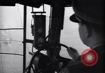 Image of pilot in cockpit of blimp New York United States USA, 1945, second 10 stock footage video 65675039817