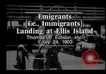 Image of immigrants Ellis Island New York USA, 1903, second 1 stock footage video 65675039827