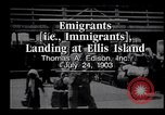 Image of immigrants Ellis Island New York USA, 1903, second 4 stock footage video 65675039827
