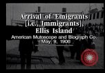 Image of Immigrants to America arriving at Ellis Island Ellis Island New York USA, 1906, second 2 stock footage video 65675039828