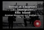 Image of Immigrants to America arriving at Ellis Island Ellis Island New York USA, 1906, second 4 stock footage video 65675039828