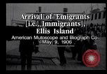 Image of Immigrants to America arriving at Ellis Island Ellis Island New York USA, 1906, second 5 stock footage video 65675039828