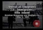 Image of Immigrants to America arriving at Ellis Island Ellis Island New York USA, 1906, second 8 stock footage video 65675039828