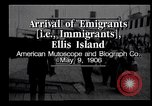 Image of Immigrants to America arriving at Ellis Island Ellis Island New York USA, 1906, second 9 stock footage video 65675039828