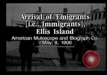 Image of Immigrants to America arriving at Ellis Island Ellis Island New York USA, 1906, second 10 stock footage video 65675039828