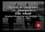 Image of Immigrants to America arriving at Ellis Island Ellis Island New York USA, 1906, second 11 stock footage video 65675039828