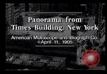 Image of Panorama from Times Building New York City USA, 1905, second 5 stock footage video 65675039829