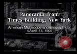 Image of Panorama from Times Building New York City USA, 1905, second 6 stock footage video 65675039829