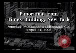 Image of Panorama from Times Building New York City USA, 1905, second 9 stock footage video 65675039829