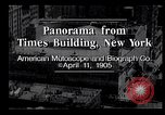 Image of Panorama from Times Building New York City USA, 1905, second 11 stock footage video 65675039829