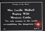 Image of Miss Lucille Mulhall United States USA, 1927, second 1 stock footage video 65675039851