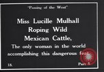 Image of Miss Lucille Mulhall United States USA, 1927, second 2 stock footage video 65675039851