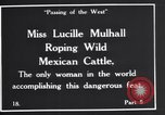 Image of Miss Lucille Mulhall United States USA, 1927, second 3 stock footage video 65675039851