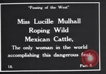 Image of Miss Lucille Mulhall United States USA, 1927, second 4 stock footage video 65675039851