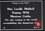 Image of Miss Lucille Mulhall United States USA, 1927, second 6 stock footage video 65675039851