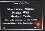 Image of Miss Lucille Mulhall United States USA, 1927, second 7 stock footage video 65675039851