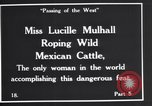 Image of Miss Lucille Mulhall United States USA, 1927, second 8 stock footage video 65675039851