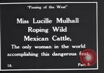 Image of Miss Lucille Mulhall United States USA, 1927, second 9 stock footage video 65675039851