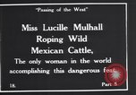 Image of Miss Lucille Mulhall United States USA, 1927, second 10 stock footage video 65675039851