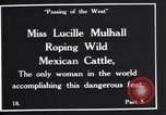 Image of Miss Lucille Mulhall United States USA, 1927, second 12 stock footage video 65675039851