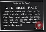 Image of wild mule race United States USA, 1927, second 7 stock footage video 65675039852