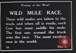 Image of wild mule race United States USA, 1927, second 9 stock footage video 65675039852