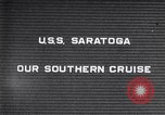 Image of USS Saratoga shellback Pacific Ocean, 1929, second 1 stock footage video 65675039872