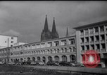Image of Swastika graffiti in Cologne in 1961 and 1935 Nazi boycott Jewish busi Germany, 1961, second 2 stock footage video 65675039876