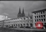 Image of Swastika graffiti in Cologne in 1961 and 1935 Nazi boycott Jewish busi Germany, 1961, second 3 stock footage video 65675039876