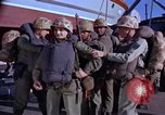Image of Marines on U.S. transport ship prepare for amphibious landing at Beiru Beirut Lebanon, 1958, second 1 stock footage video 65675039923