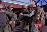Image of Marines on U.S. transport ship prepare for amphibious landing at Beiru Beirut Lebanon, 1958, second 2 stock footage video 65675039923