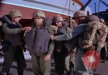 Image of Marines on U.S. transport ship prepare for amphibious landing at Beiru Beirut Lebanon, 1958, second 7 stock footage video 65675039923