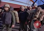 Image of Marines on U.S. transport ship prepare for amphibious landing at Beiru Beirut Lebanon, 1958, second 8 stock footage video 65675039923