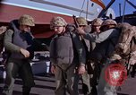Image of Marines on U.S. transport ship prepare for amphibious landing at Beiru Beirut Lebanon, 1958, second 9 stock footage video 65675039923
