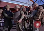 Image of Marines on U.S. transport ship prepare for amphibious landing at Beiru Beirut Lebanon, 1958, second 10 stock footage video 65675039923