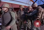 Image of Marines on U.S. transport ship prepare for amphibious landing at Beiru Beirut Lebanon, 1958, second 11 stock footage video 65675039923