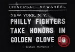 Image of Golden Gloves boxing 1938 New York City USA, 1938, second 6 stock footage video 65675039941