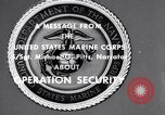 Image of Quantico Marines Operation security Quantico Virginia USA, 1964, second 1 stock footage video 65675039955