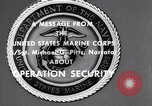 Image of Quantico Marines Operation security Quantico Virginia USA, 1964, second 2 stock footage video 65675039955