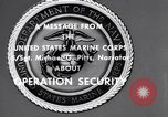 Image of Quantico Marines Operation security Quantico Virginia USA, 1964, second 3 stock footage video 65675039955