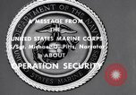 Image of Quantico Marines Operation security Quantico Virginia USA, 1964, second 4 stock footage video 65675039955