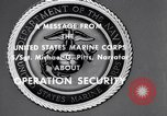 Image of Quantico Marines Operation security Quantico Virginia USA, 1964, second 9 stock footage video 65675039955