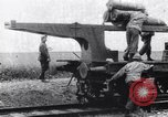 Image of French 320mm Railway Gun Western Front European Theater, 1918, second 1 stock footage video 65675040041