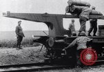 Image of French 320mm Railway Gun Western Front European Theater, 1918, second 2 stock footage video 65675040041